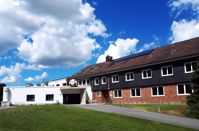 Der Eingangsbereich des Uwe-Seeler-Fußball-Parks
