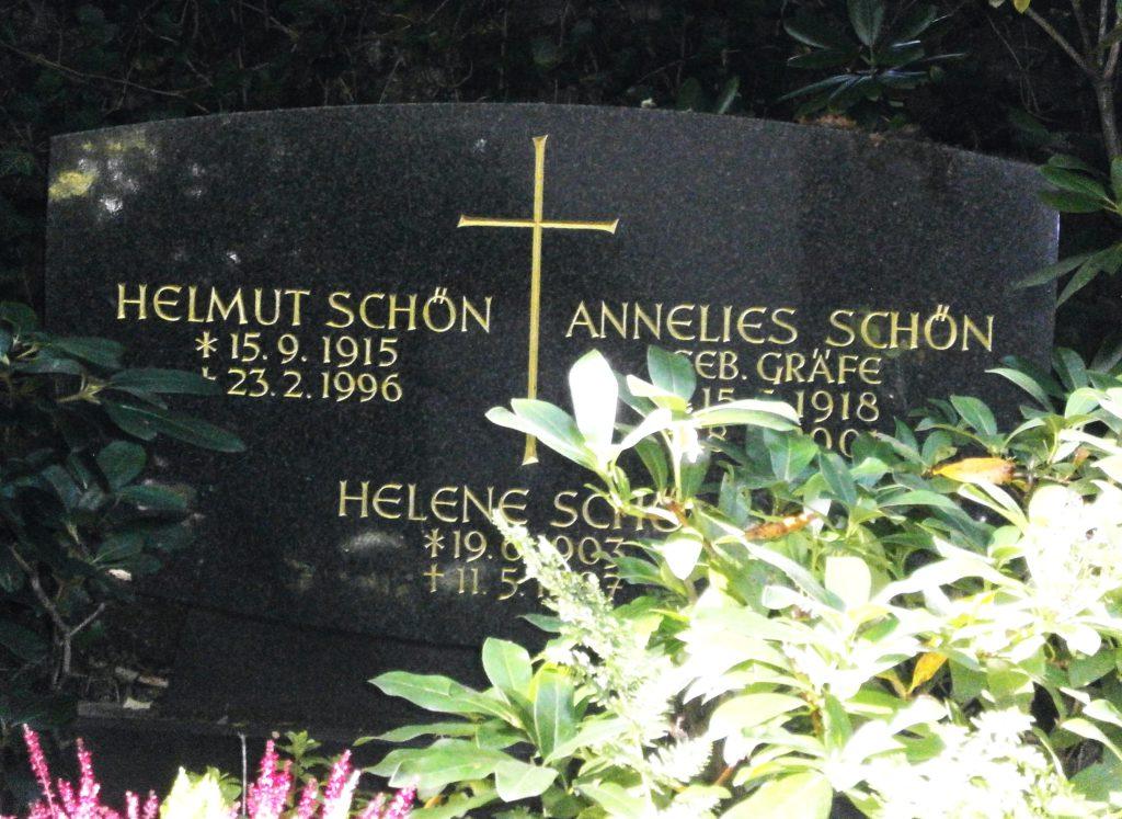 Helmut Schöns Grab, Wiesbaden