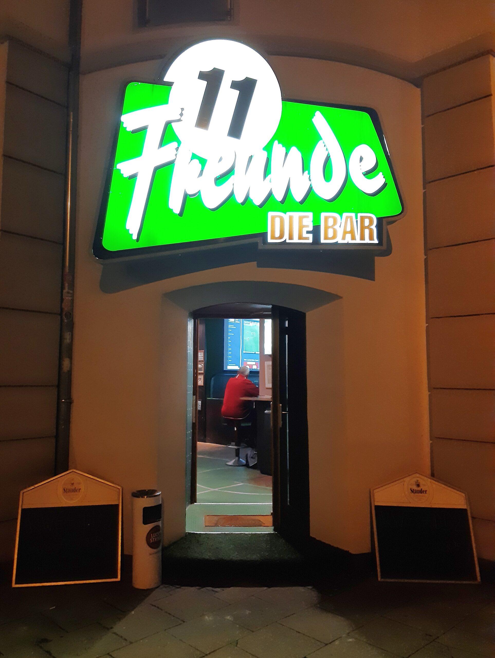 Die 11 Freunde-Bar in Essen-Rüttenscheid