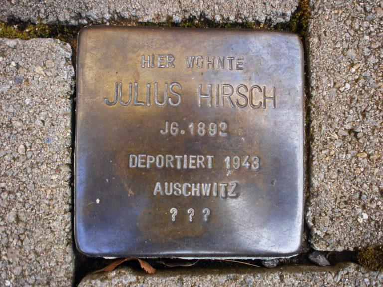 Stolperstein Julius Hirsch, Karlsruhe