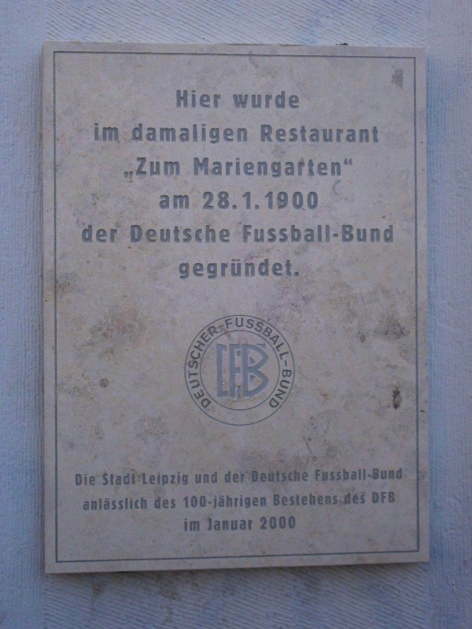 Gründungsstätte des DFB, Leipzig