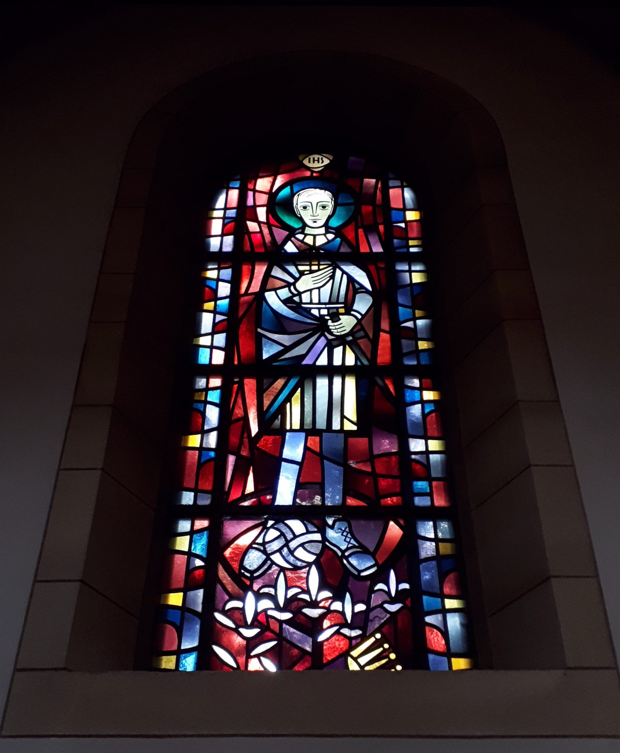 Kirchenfenster mit dem heiligen Aloisius Gelsenkirchen-Schalke