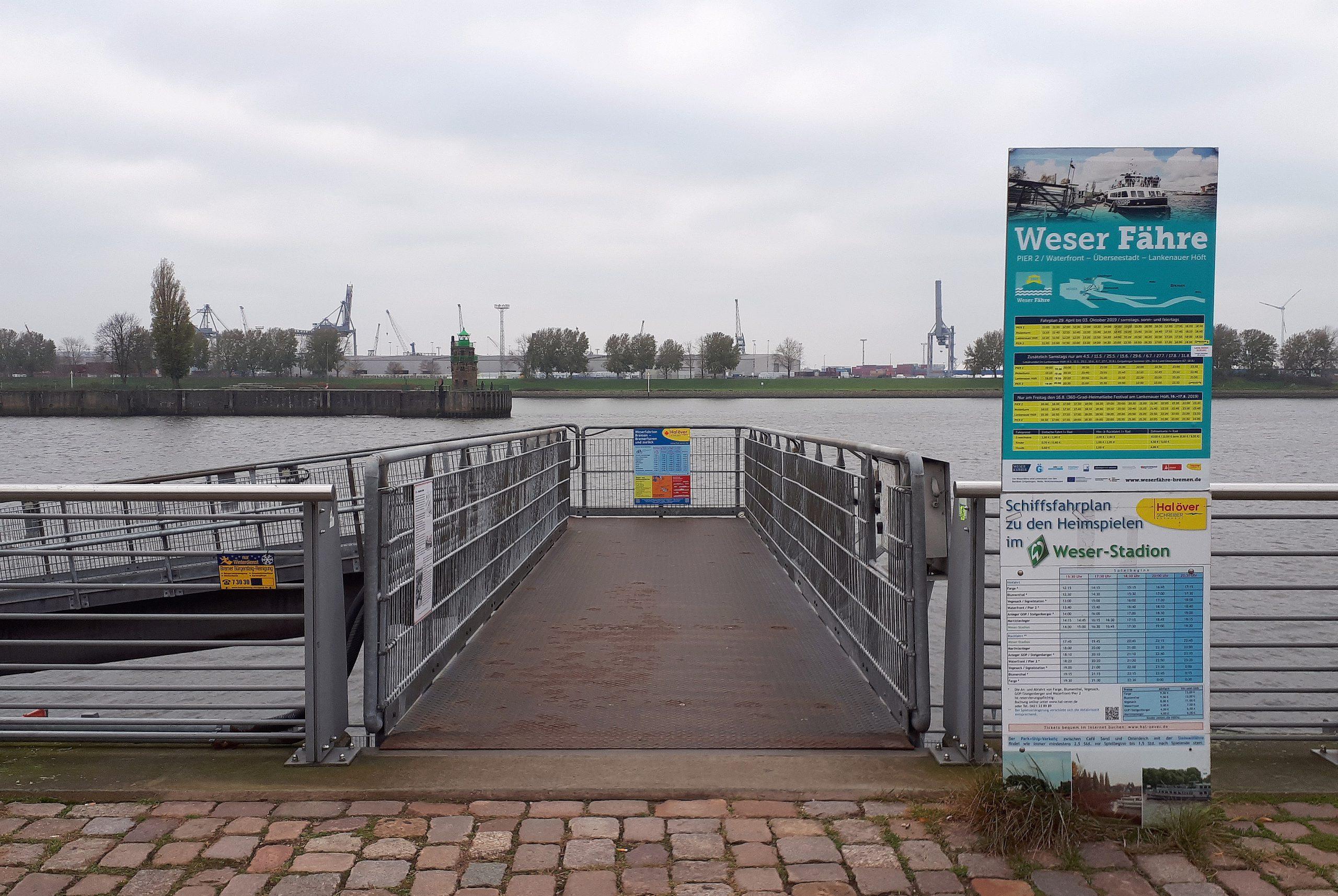 Die Fähre zum Weserstadion Bremen