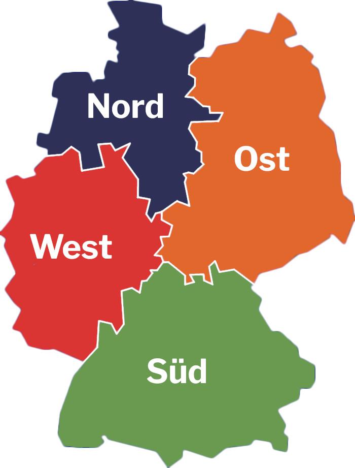 Deutschlandkarte 11 Freunde 99 Orte