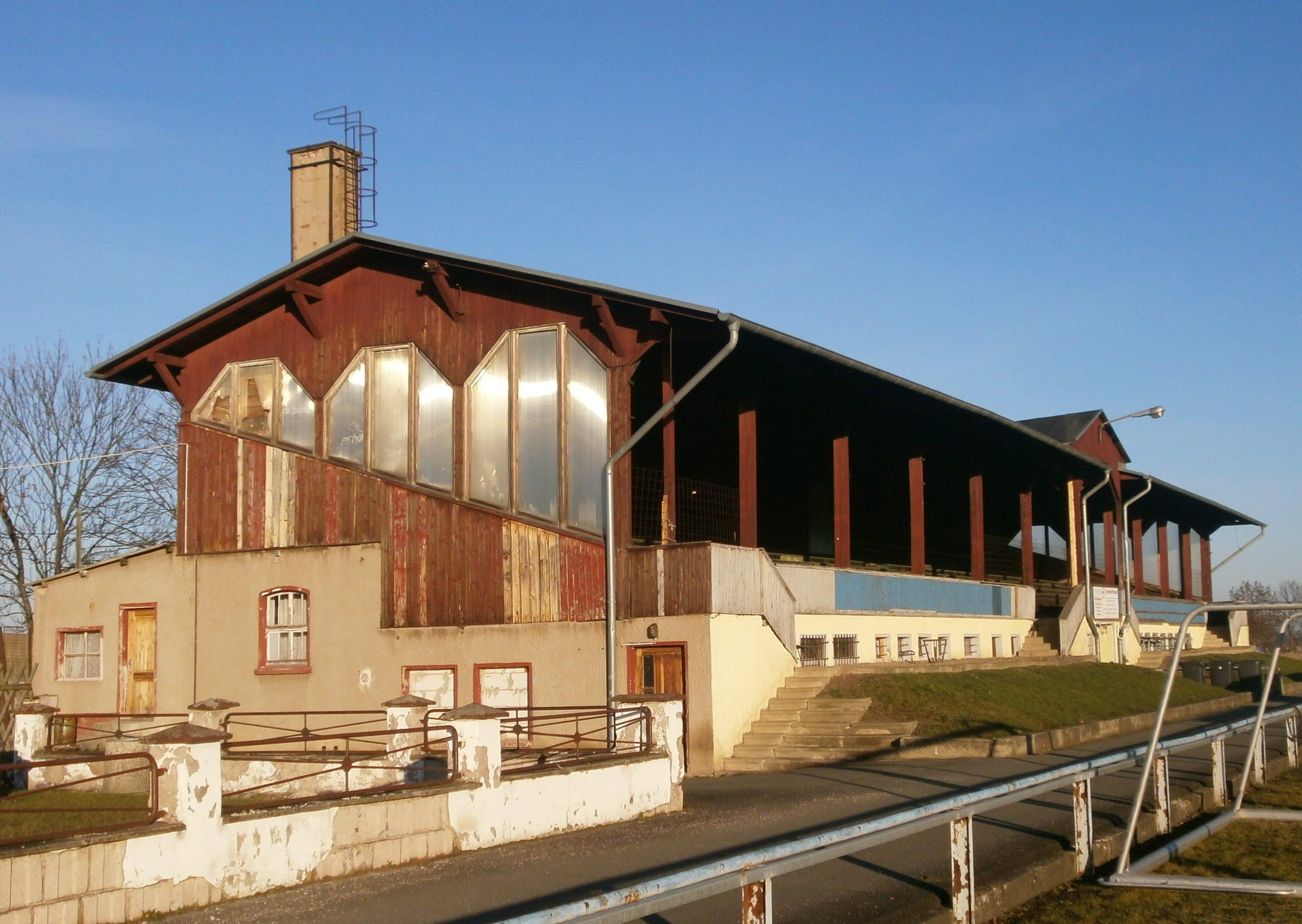 Der Sportplatz in Rudisleben in der unmittelbaren Nähe zu Arnstadt