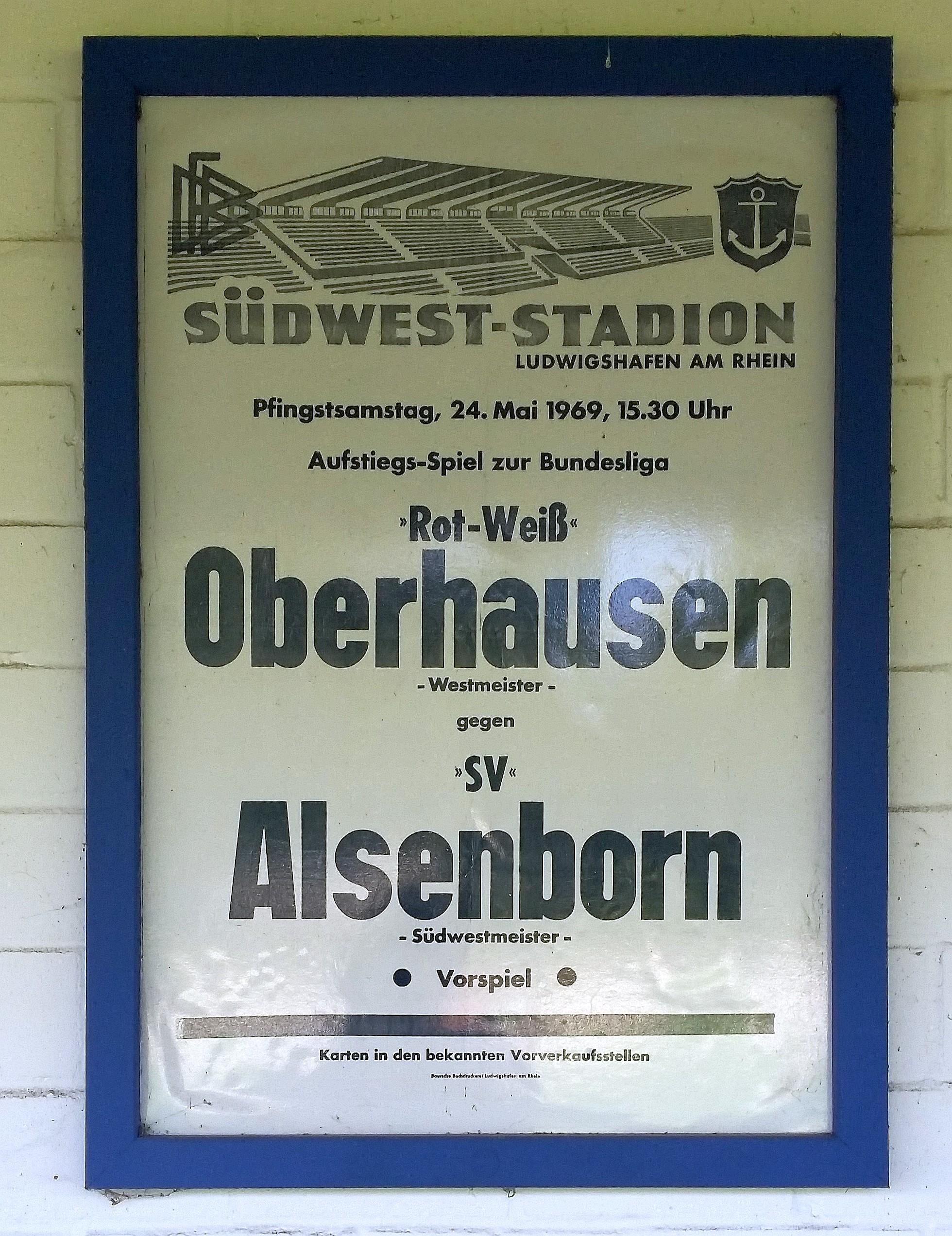 Alte Plakate erinnerten an die goldenen Zeiten des Vereins