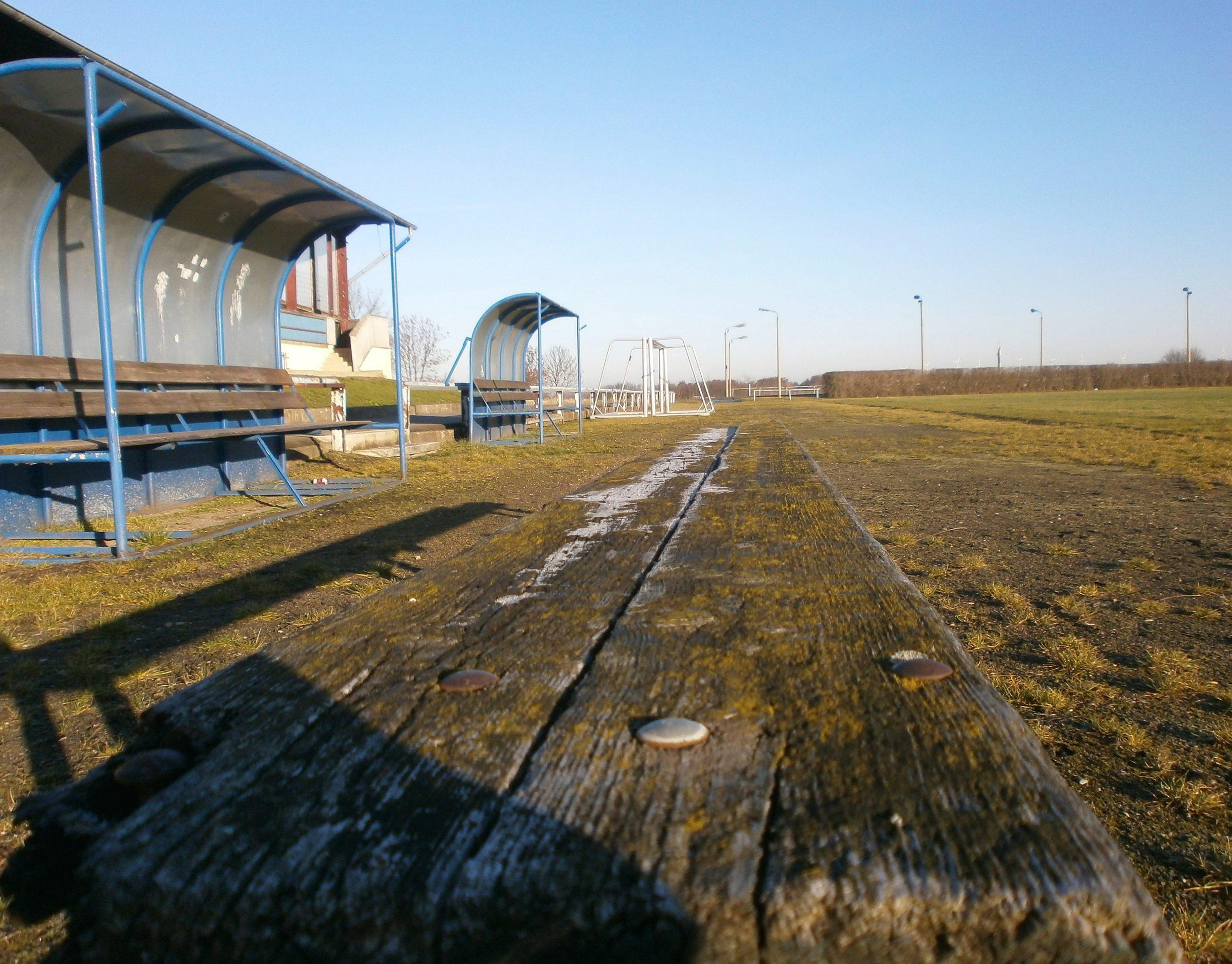 Holz dominiert die alte Kampfbahn