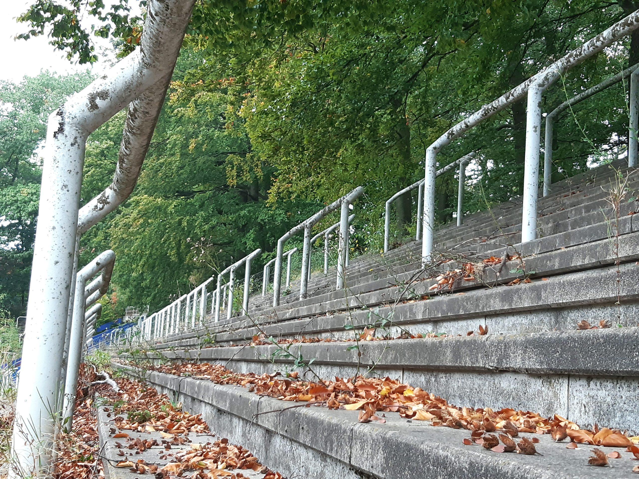 Die Stehplätze im Jahnstadion