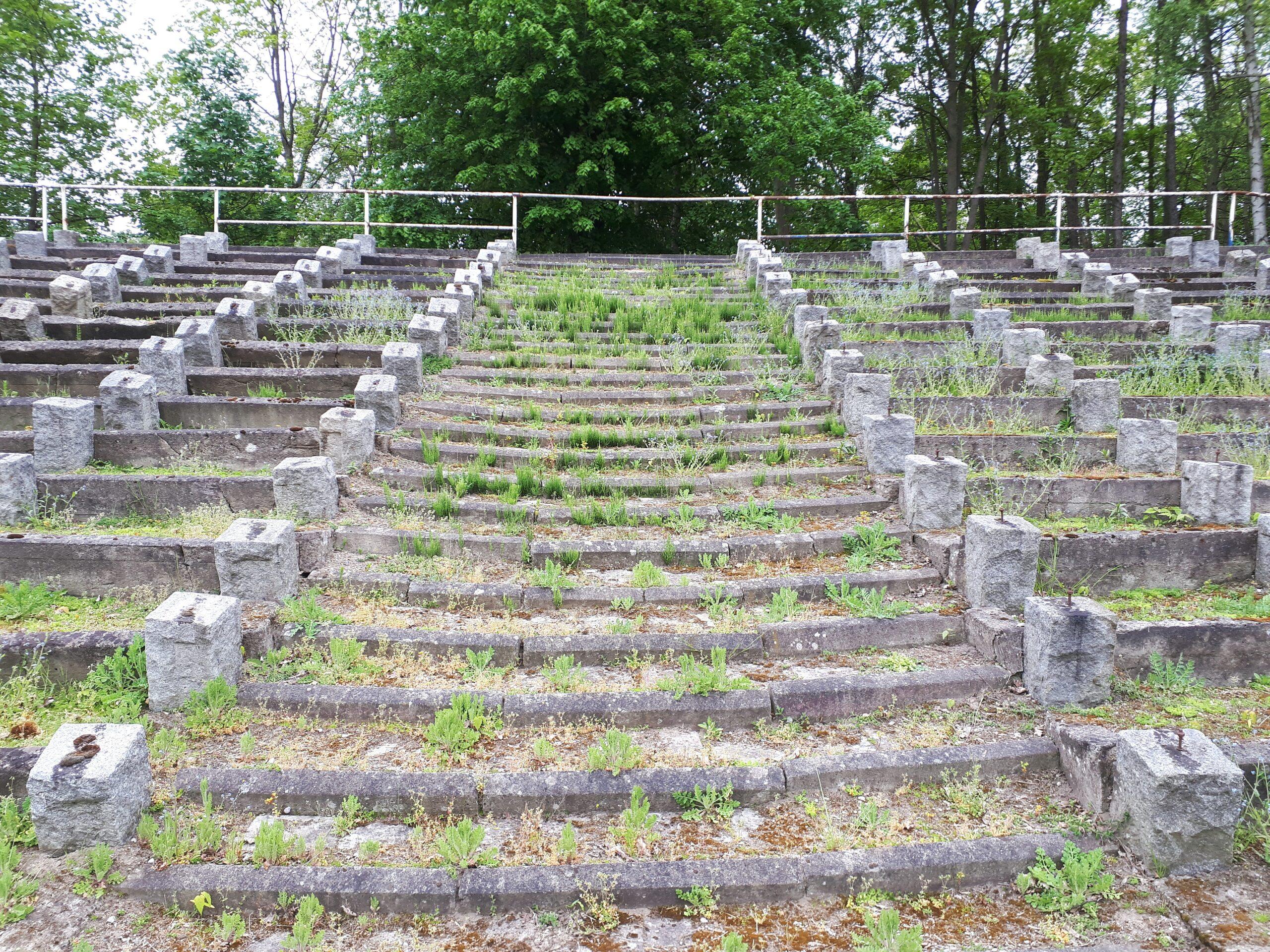 Die früheren Treppenaufgänge