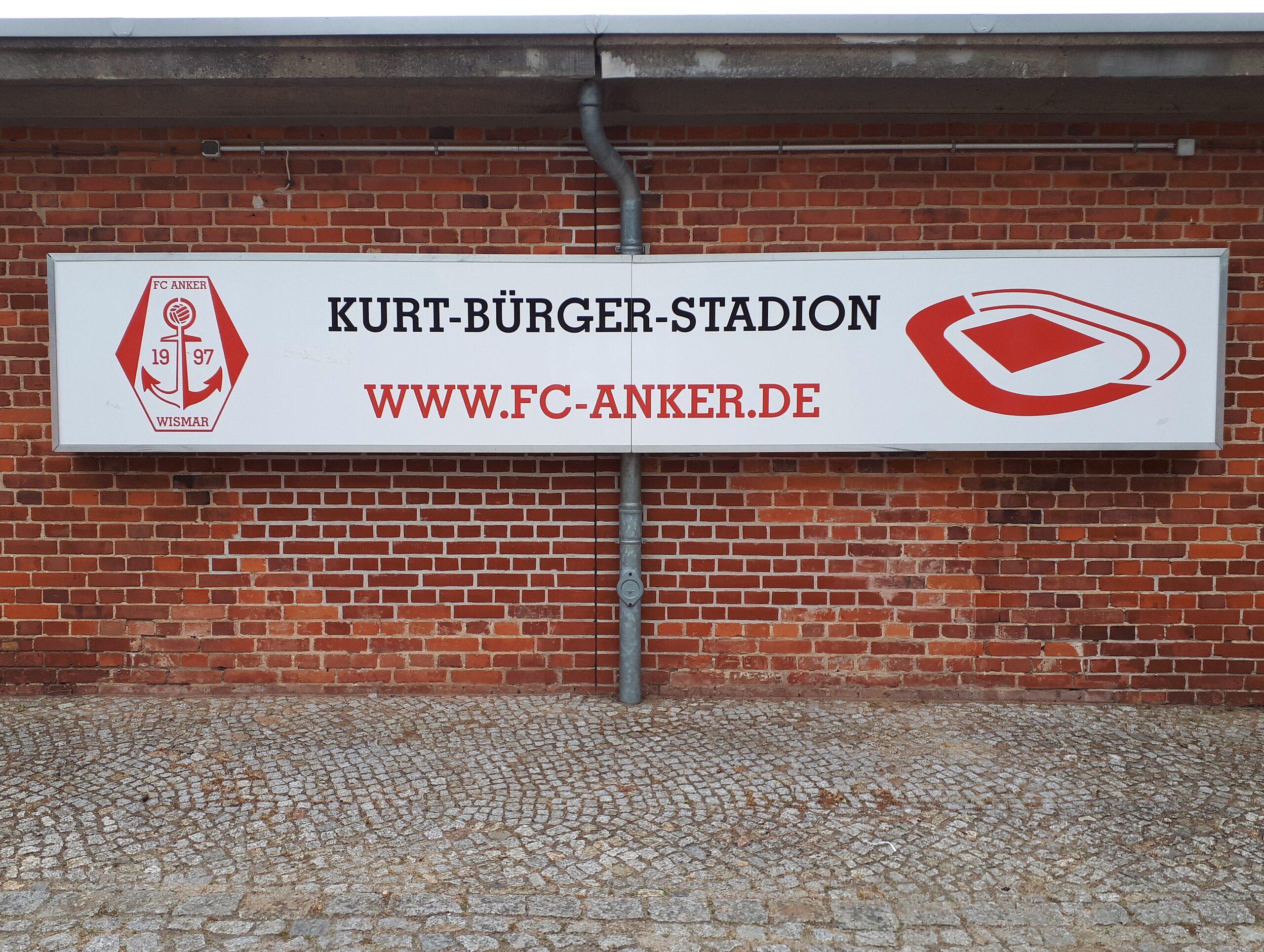 Im Kurt-Bürger-Stadion spielt der FC Anker Wismar