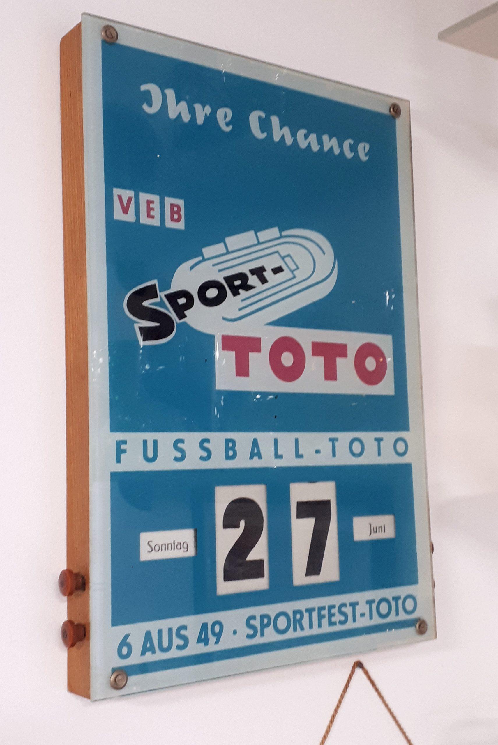 Ein Dauerkalender vom DDR-Fußball-Toto