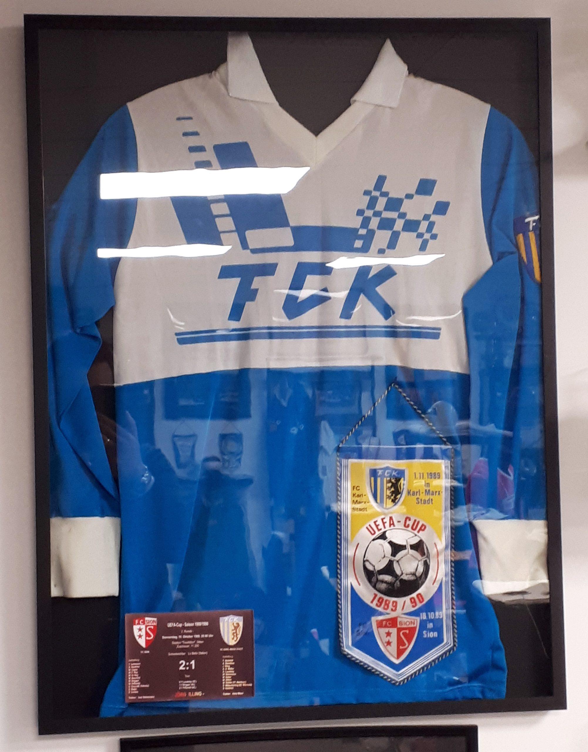 Trikot des FC Karl-Marx-Stadt