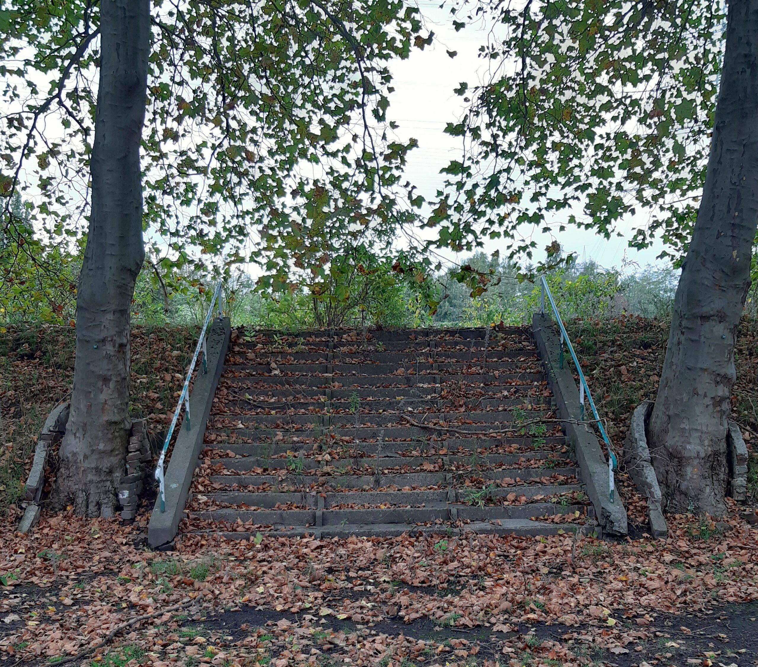 Treppenaufgang des Mathias-Stinnes-Stadion