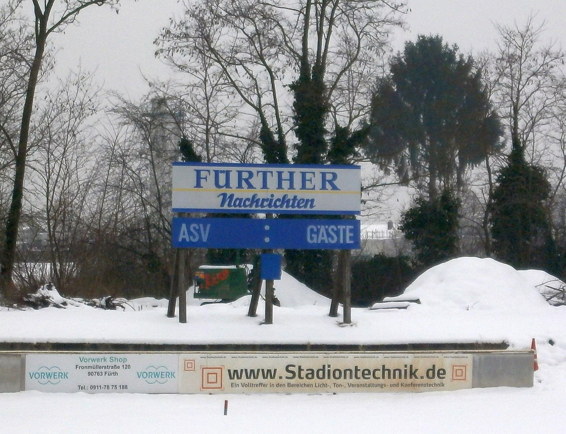 Die Anzeigetafel im Stadion an der Magazinstraße