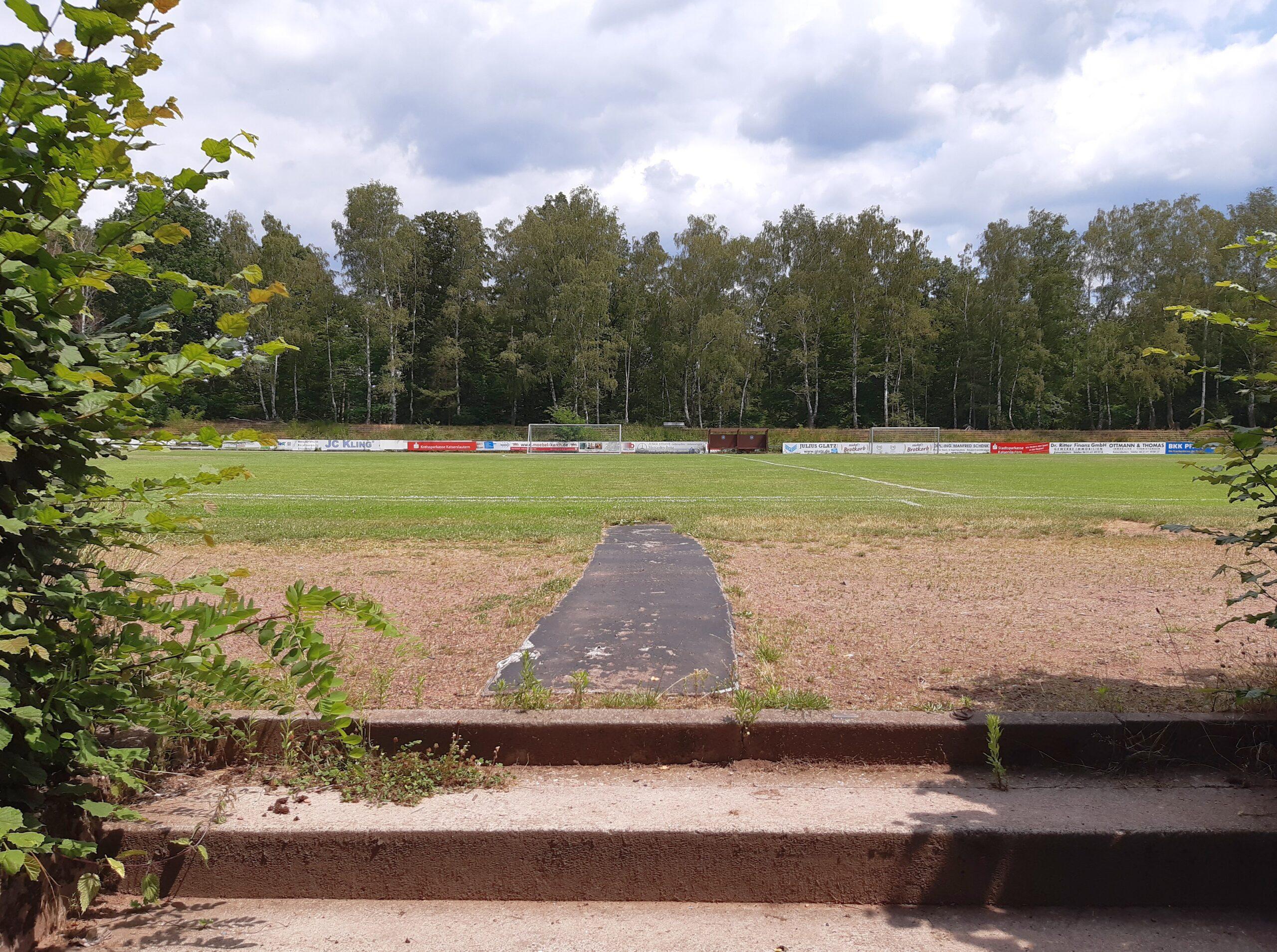 Ein Blick auf das Spielfeld am Erbsenberg