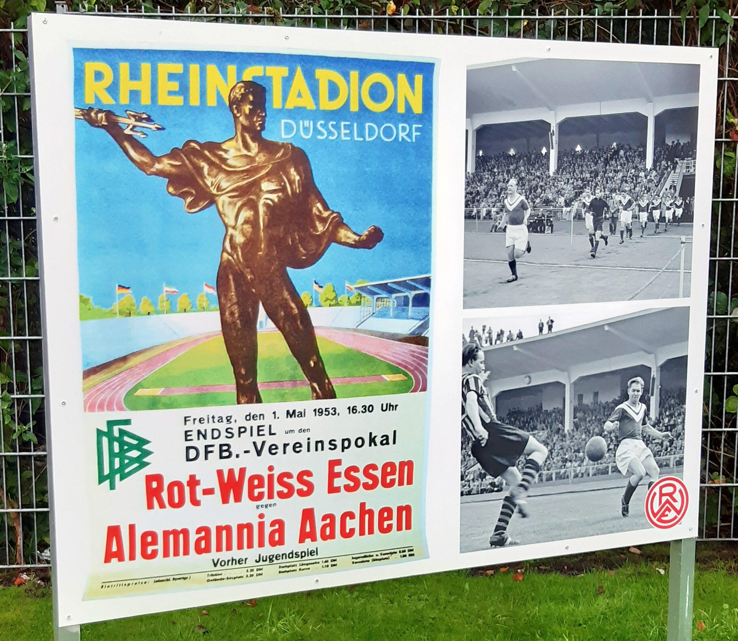 Die historischen Fototafeln: Der Pokalsieg 1953