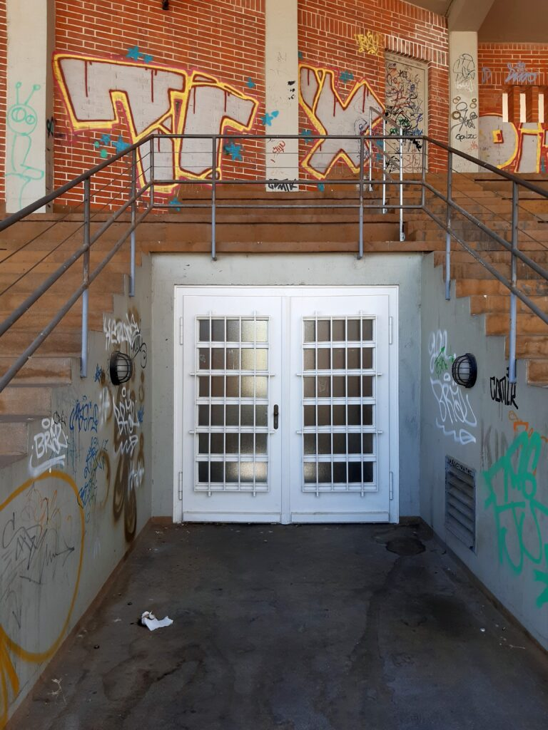 Treppenaufgang im alten Hochschulstadion