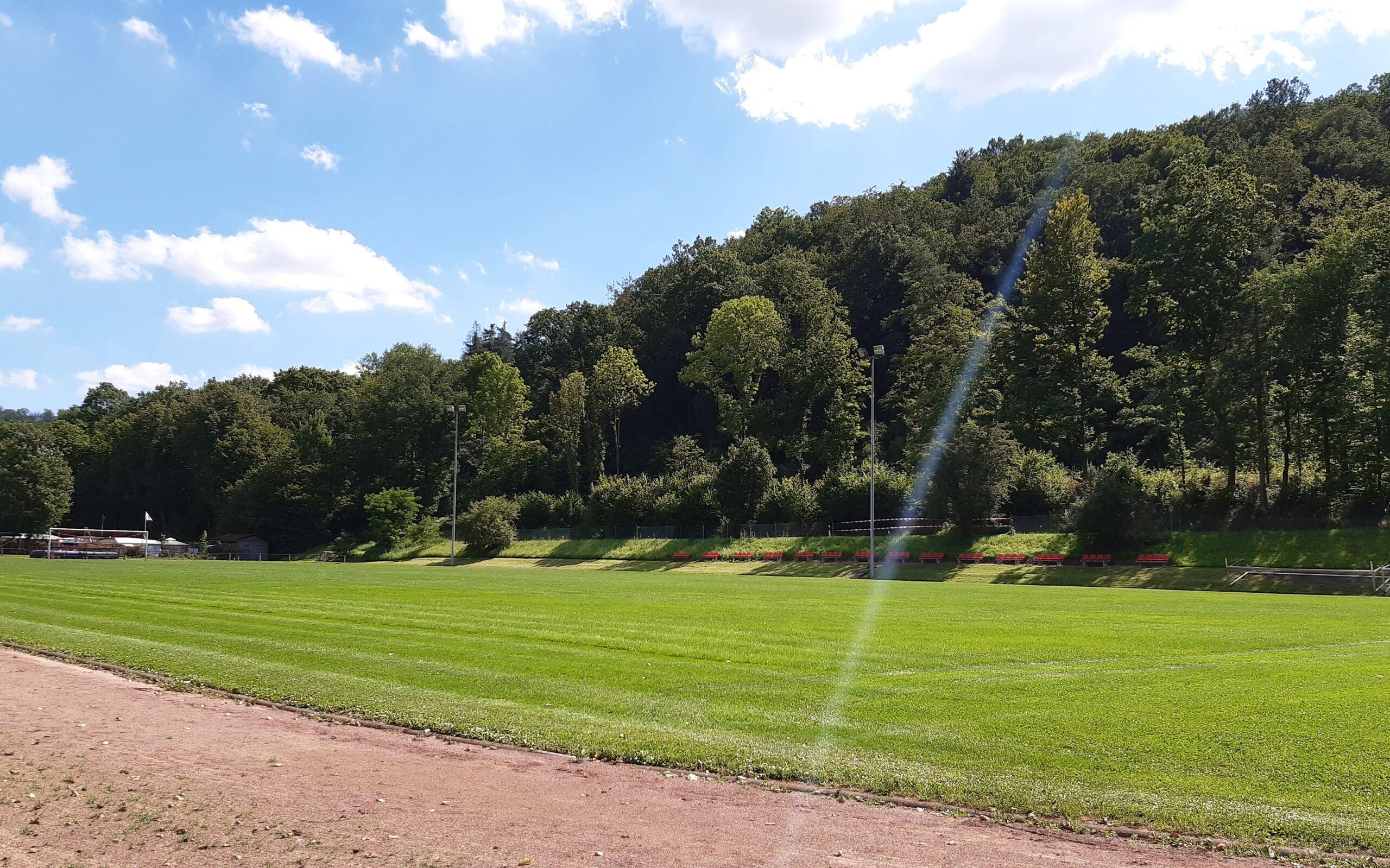 Der Liebenbachsportplatz in Spangenberg
