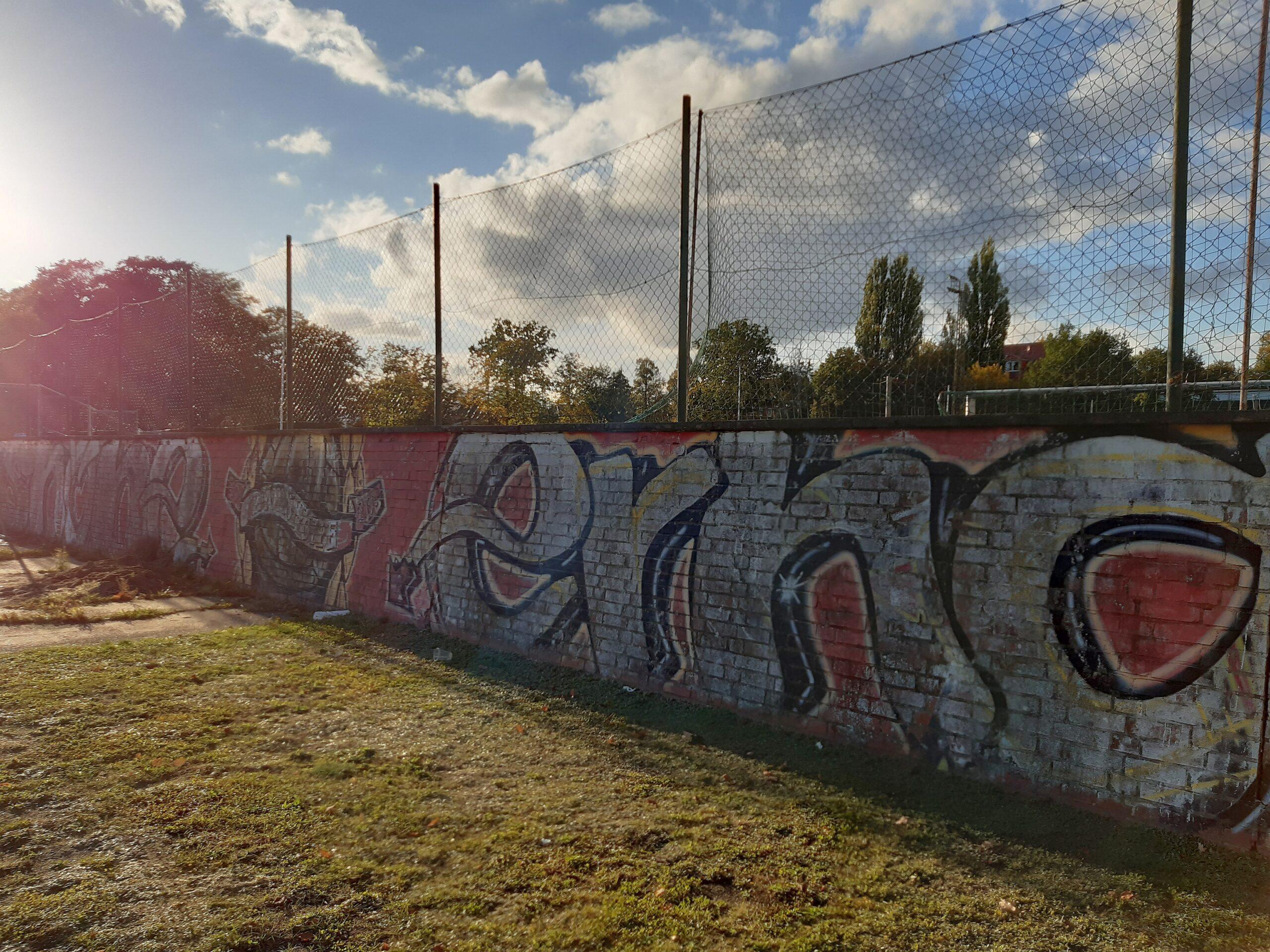 Stadionmauer an der Paulshöhe